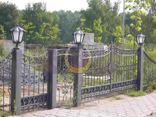 Кованые ворота заказать в СПб