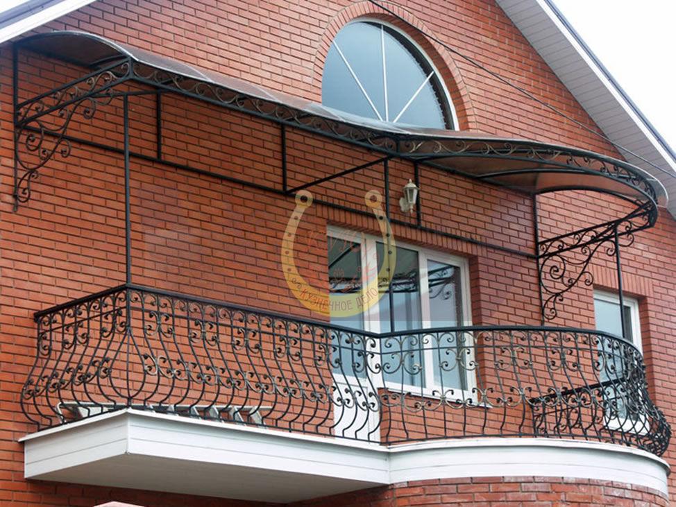 Заказать и купить кованые балконы в СПб